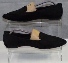 Next Women's Black Suedette Ballet Flat Ballerinas Slip On Formal Shoes UK 7 VGC