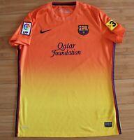 WOMAN BARCELONA 2012/2013 AWAY SOCCER FOOTBALL JERSEY SHIRT CAMISETA NIKE FEMALE