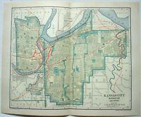 Kansas City - Original 1908 City Map by Dodd Mead & Company