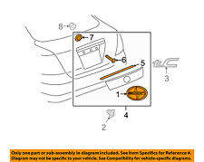 Scion TOYOTA OEM 05-10 tC Liftgate Tailgate Hatch-Molding Trim 7680121071A0