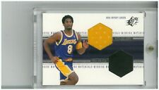 1999-00 UPPER DECK SPX KOBE BRYANT WINNING MATERIALS JERSEY/SHOE CARD #WM4