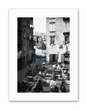 STREET LAUNDRY NAPLES 1895 ITALY Vintage Canvas art Prints