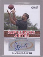 2012 SAGE HIT Sophomore Autographs #A33 D.J. Williams DJ Auto