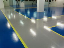 2 PACK 2K EPOXY RESIN GARAGE & INDUSTRIAL FLOOR PAINT - VARIOUS SIZES & COLOURS