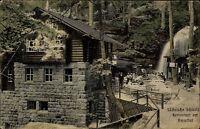 Niederrathen Sachsen Sächsische Schweiz ~1910 Amselgrund Restaurant Amselfall