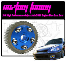 FOR HONDA CIVIC SOHC D16 D15 D13 ENGINE ALUMINUM ADJUSTABLE BLUE CAM GEAR