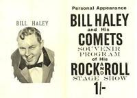 BILL HALEY AND HIS COMETS ORIGINAL 1957 FIRST U.K. TOUR CONCERT FLYER / HANDBILL
