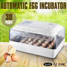 30 Eggs Auto-Turning Digital Incubator Automatic Hatch Chicken Duck Egg Turner
