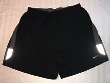 Mens NIKE FIT Running Shorts Lined Size XL EUC Vented Reflective