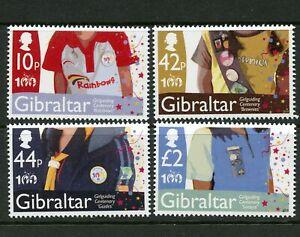 Girl Guides Centenary MNH Set of 4 Stamps 2010 Gibraltar #1247-50 Brownies