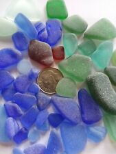 Blue Cobalt Red Teal Aqua Sea Beach Glass Frosted Surf Tumbled