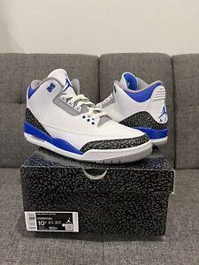 Nike Air Jordan 3 Retro Racer Blue Men's Size 10.5 CT8532-145 *SHIPS TODAY*
