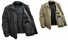 3 Season Concealed Carry Tactical Jacket in Black or Khaki Tan S - XXXXXL (5XL)