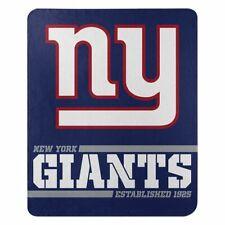 "New New York Giants Nfl Split Wide Fleece Throw Blanket Large Size 50""x60"""