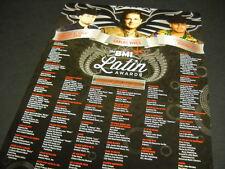 Carlos Vives Espinoza Paz Roberto Tapia 2014 Latin Awards Promo Poster Ad mint