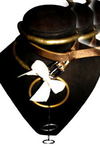 CLoTH AdK  Resurrection Choker Leather~Copper~Brass Snake~1 of Kind, SRP$152