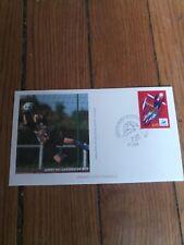 france timbre sport foot 98 Enveloppe  coupe du monde de football 1998 Lyon