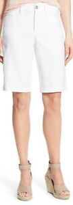 Not Your Daughters Jeans NYDJ Tummy Tuck Optic White Linen Blend Shorts Size 16P