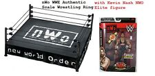 NEW WWE Authentic Elite Scale Ring with NWO Skirt & Mat +NWO Elite Kevin Nash