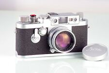 RARA LEITZ RANGEFINDER LEICA IIIG 3G + SUMMICRON 50mm f2 MINT CONDITION SERVICED