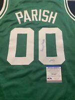 Robert Parish Signed Custom Boston Celtics Jersey PSA/DNA Adult XL