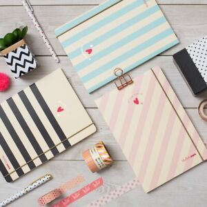 Matilda MOO A5 Lined Notebook - Stripe Collection - 3 Different Colours