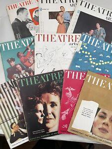 Lot of 10 - 1953 Theatre Arts Magazines Vintage Ads, Actresses Actors Broadway