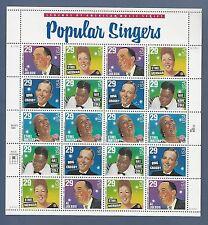 SCOTT #2853 POPULAR SINGERS (29c) Legends of American Music Series  MNH