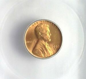 1953-S LINCOLN CENT ICG MS 66+ RED