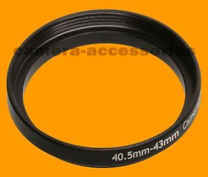 40.5mm to 43mm 40.5-43 mm Stepping Step Up Filter Ring Adapter 40.5mm-43mm (UK)