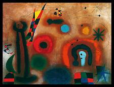 Joan Miro Libelle mit roten Flügeln Poster Bild Kunstdruck im Alu Rahmen 60x80cm