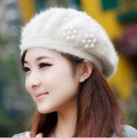 Fashion Women Beret Winter Warm Baggy Beanie Knitted Crochet Hat Slouch Ski Cap