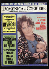 DOMENICA 50/72 LIZ TAYLOR TERREMOTO ANCONA CRESSARI TARZAN WEISSMULLER VISCONTI