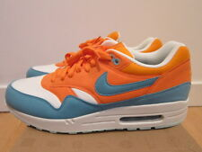 2011 Nike Air Max 1 Mandarin Orange Mineral Blue Dolphins size 12
