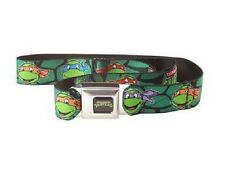Buckle Down Men's Teenage Mutant Ninja Turtles Shell Faces Seatbelt Belt, NEW!