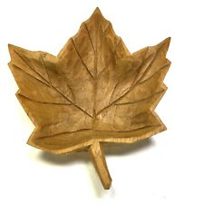Hand-carved Wood Maple Leaf by Sculptor DENYS TIMMONS La Pocatière Quebec