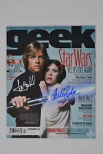 Carrie Fisher Mark Hamill Autographed Signed Geek Magazine - Beckett BAS
