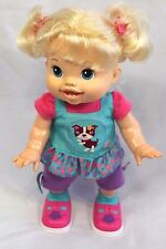 "Baby Alive Wanna Walk Doll  Blonde 2011 Hasbro Walking & Talking 14"" Doll Video"