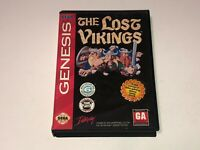 The Lost Vikings Sega Genesis w/Case Cleaned & Tested Authentic