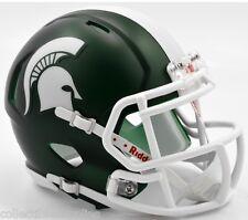 Michigan State Spartans Alternate Satin Revolution Speed Mini Football Helmet