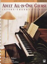 ALFRED ADULT ALL-IN-ONE PIANO COURSE LESSON/THEORY/TECH LEVEL 1 MUSIC BOOK NEW!!