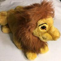 """LARGE Mufasa LION KING Simba DISNEY Hand Puppet  22"""" Plush Stuffed Animals Toy"""