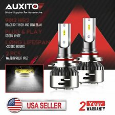 AUXITO 9012 LED Headlight High Low Beam Bulb 6500K for Dodge Dart 2013 2014 2015