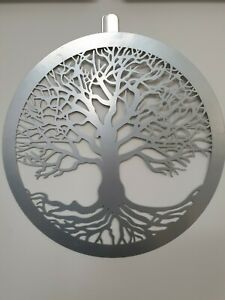 Tree Of Life Silver Metal Wall Art Home Decor