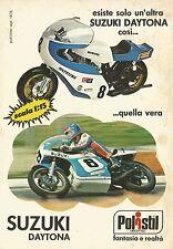 X4565 Suzuki Daytona - POLISTIL fantasia e realtà - Pubblicità 1976 - Advertis.