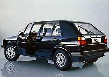 VW Golf 2 originale Postkarte Ansichtskarte Motivkarte  car post card 80er Jahre