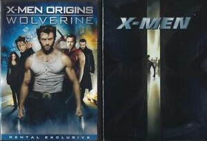 DVD: LOT OF 3 X-MEN-X2-ORIGINS WOLVERINE  HUGH JACKMAN
