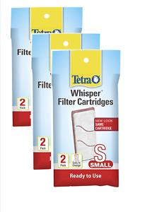 Tetra Whisper Filter Cartridges 6 Count, Small, aquarium Filtration (19550)