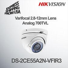 Varifocal Security Camera Dome Turret Analog 700TVL 2.8-12mm Lens Hikvision CCTV