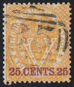British Columbia Surcharge, Scott 11, F used, catalogue - $300